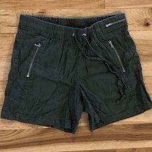 INC Tie Waist Linen Shorts